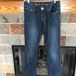 "GUESS Pismo Straight Boot Cut Jeans, 27"" X 33"" EUC"
